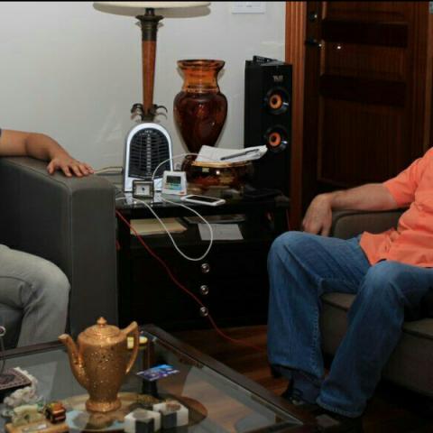 Jorge Ruiz junto al diputado Manuel Cohen./Cortesía