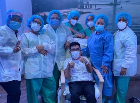 Juanpi Dolande sale del hospital y vence al Covid19