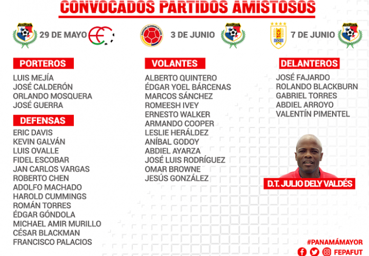 Julio Dely Valdés entrega listado de convocados para amistosos