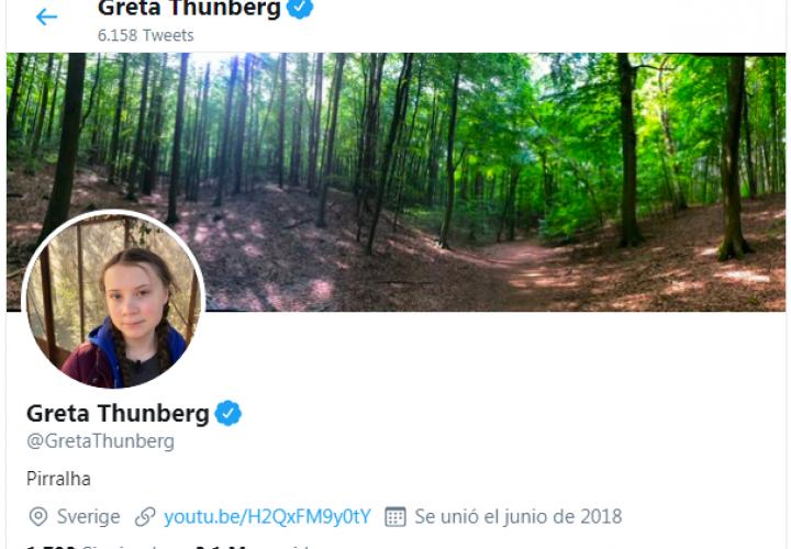"""Bolsonaro tilda a Greta Thunberg de """"mocosa"""" y ella lo asume en Twitter (Video)"""