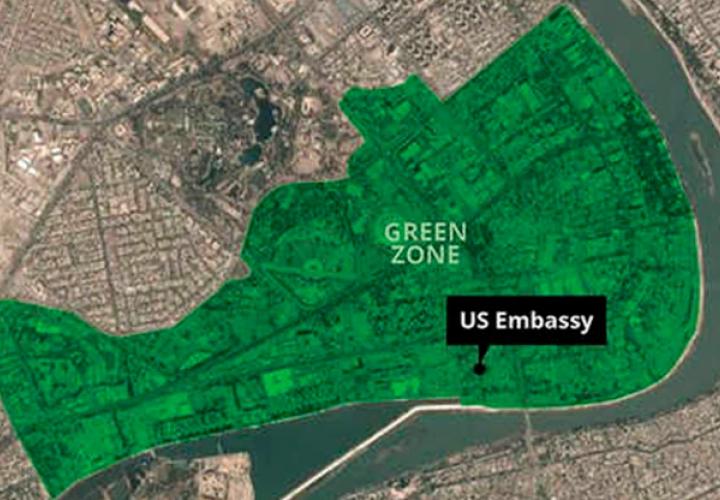Impactan dos cohetes cerca de la Embajada de EE.UU. en Bagdad