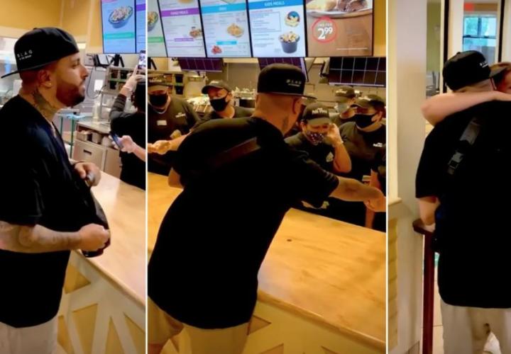 Nicky Jam entra a un local de comida rápida y regala 40 mil dólares