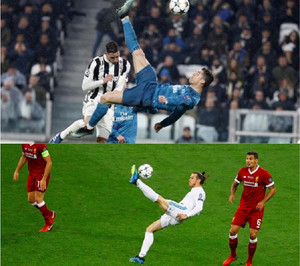 Las chilenas de Ronaldo y Bale, entre las mejores de la competeción. Foto: EFE