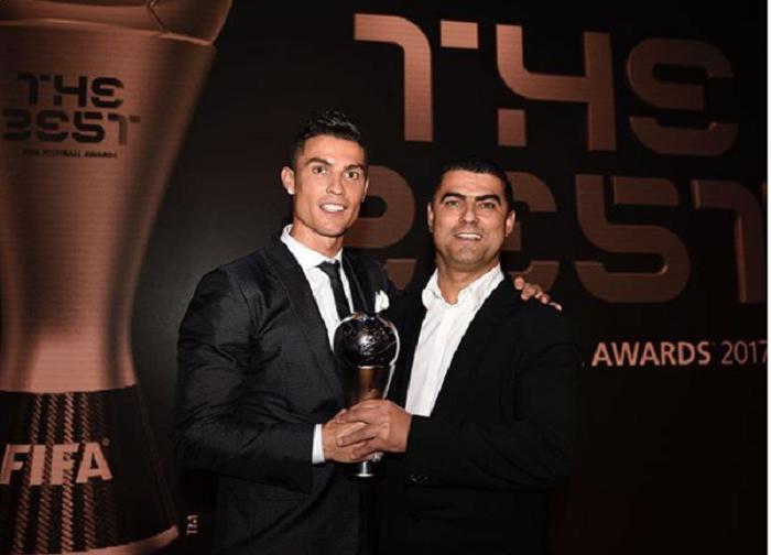 Cristiano Ronaldo junto a su hermano Hugo Aveiro. Foto: Instagram
