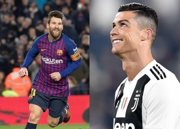 Lionel Messi y Cristiano Ronaldo, dos de los mejores jugadores del mundo. Foto. EFE