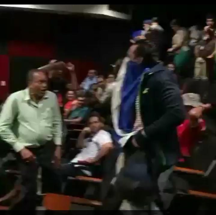 Incidente en el cine de la Universidad de Panamá.