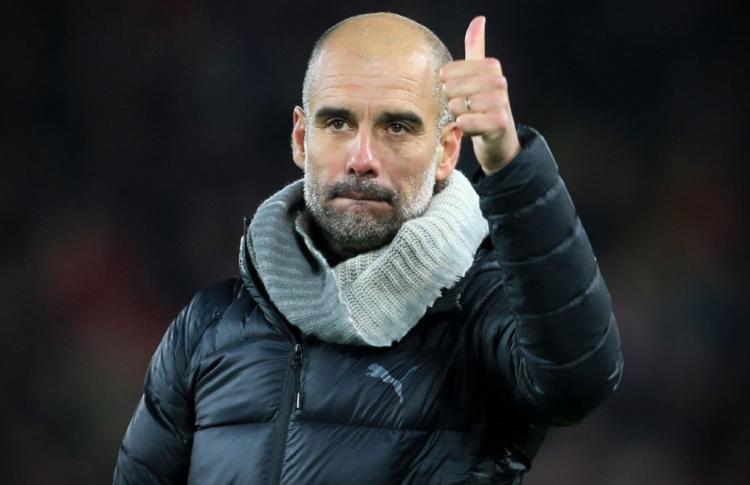 El entrenador del Manchester City, Pep Guardiola. Foto: EFE