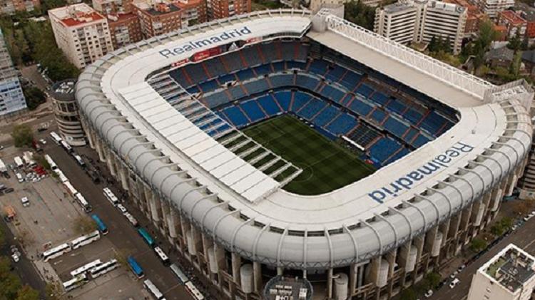 El estadio Santiago Bernabéu. Foto: Twitter