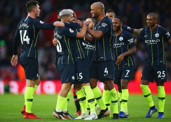 El City venció 3-1 en Southampton el domingo gracias a dos tantos justo antes del descanso. Foto: Twitter