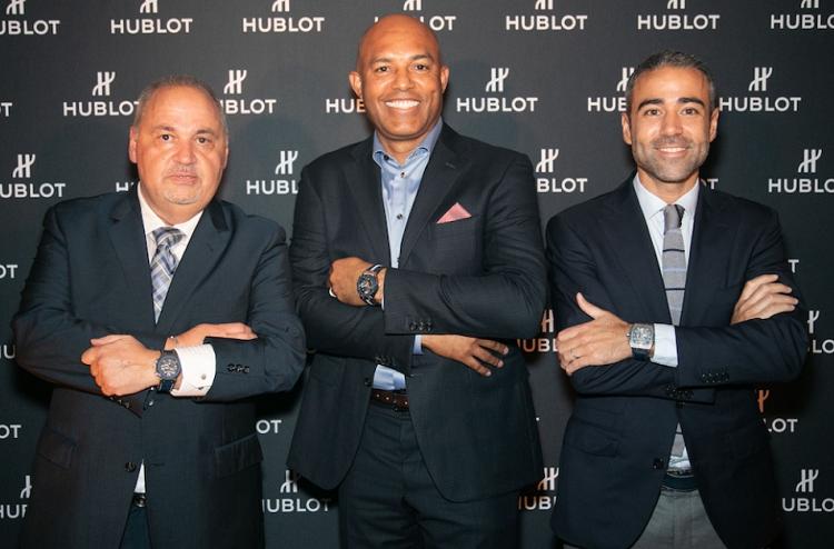 Hublot organizó una cena íntima en American Cut Steakhouse en Nueva York para el lanzamiento del reloj en honor a Mariano Rivera. Foto:  Hautetime